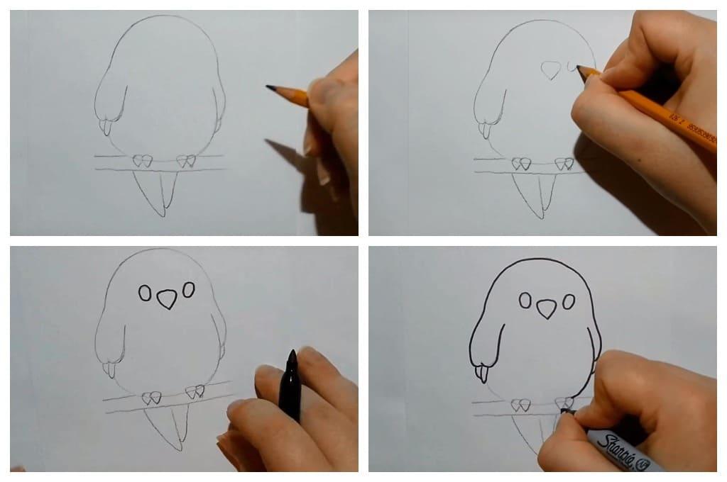 Как нарисовать птичку. 100 рисунков для детей и взрослых