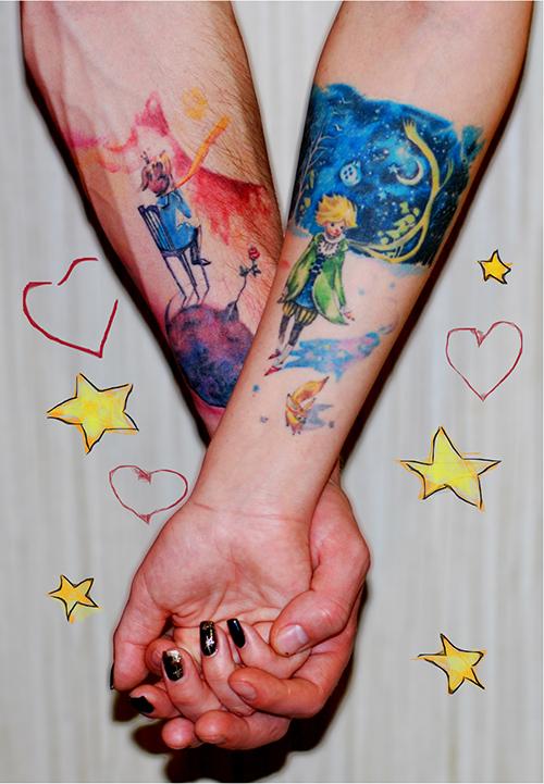 248 парных татуировок для влюбленных