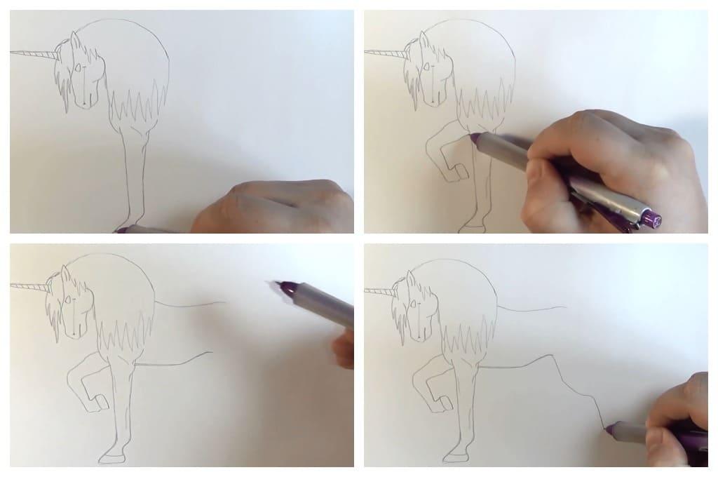 200 рисунков единорога для срисовки