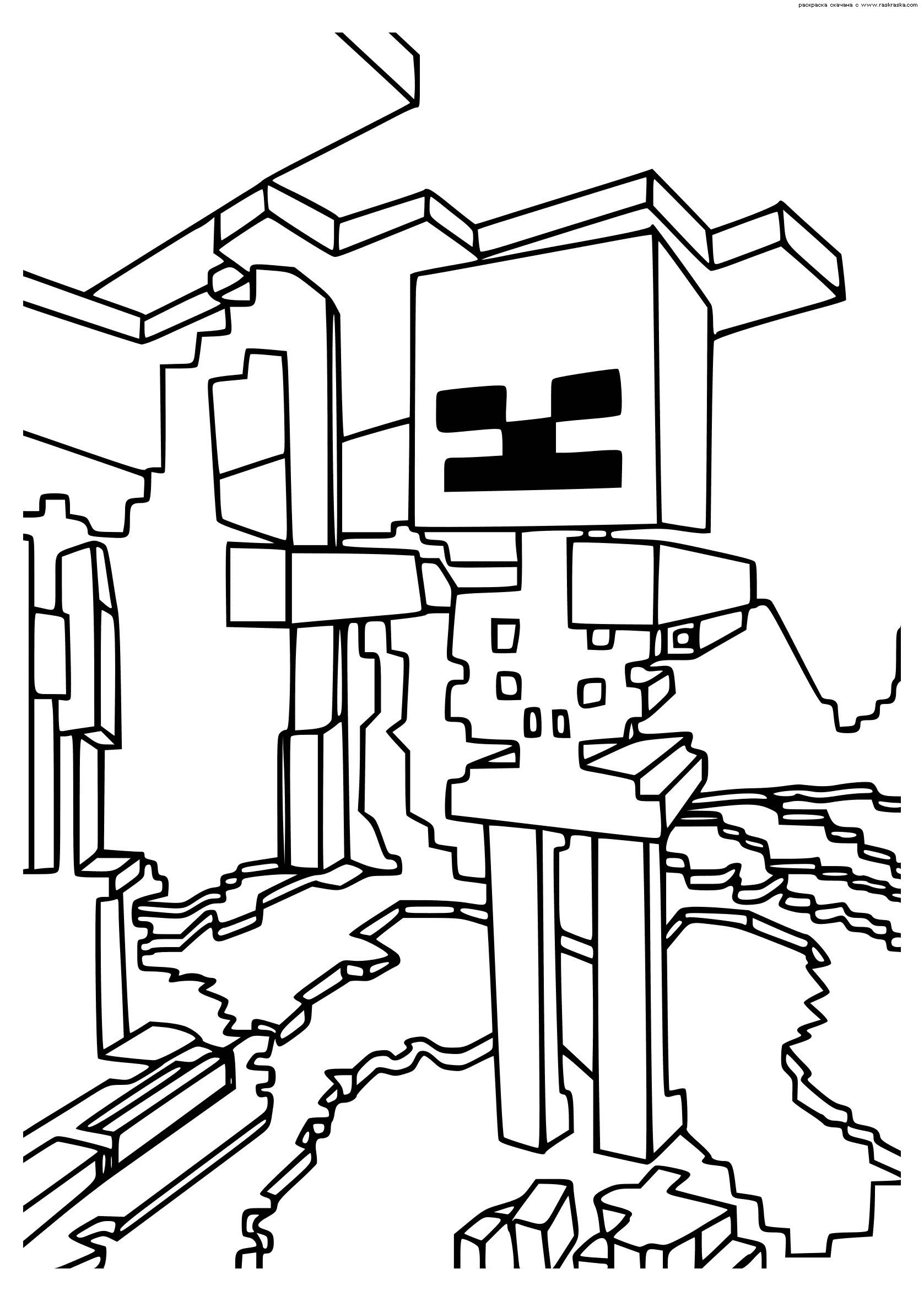 раскраска лего майнкрафт #8