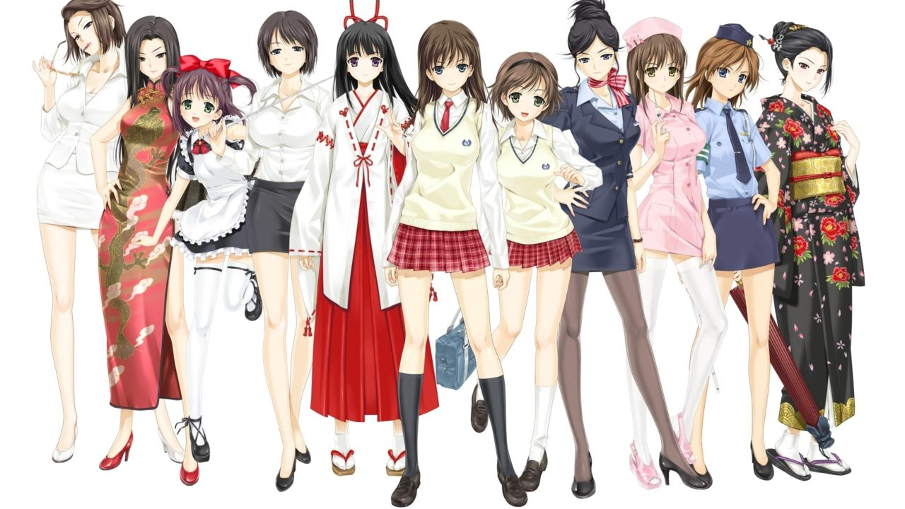 360 картинок с красивыми аниме девушками