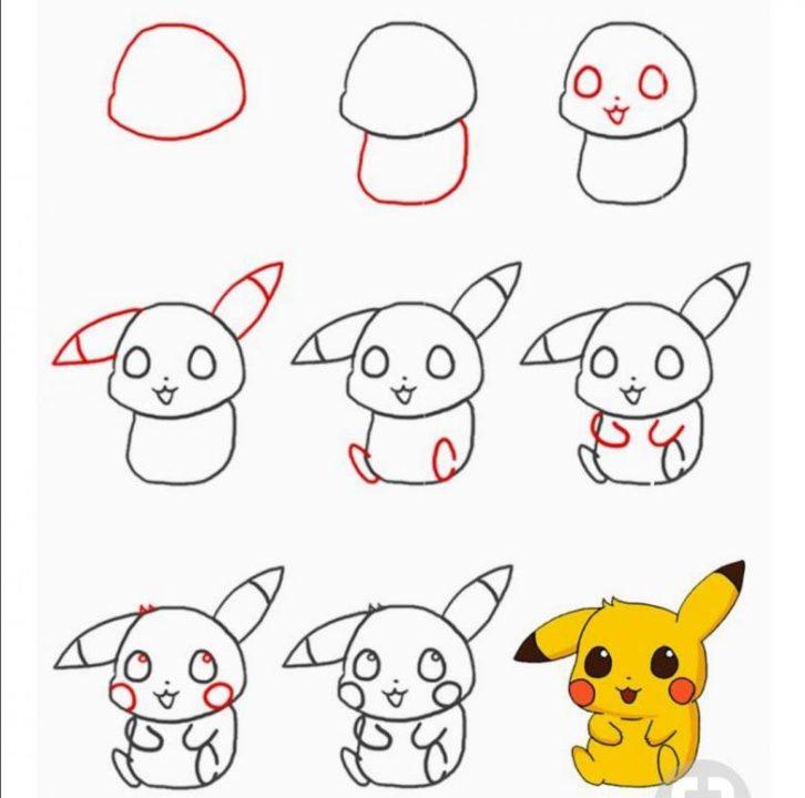 Как нарисовать пикачу карандашом поэтапно