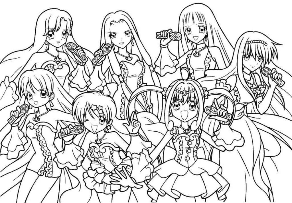 124 разукрашки аниме