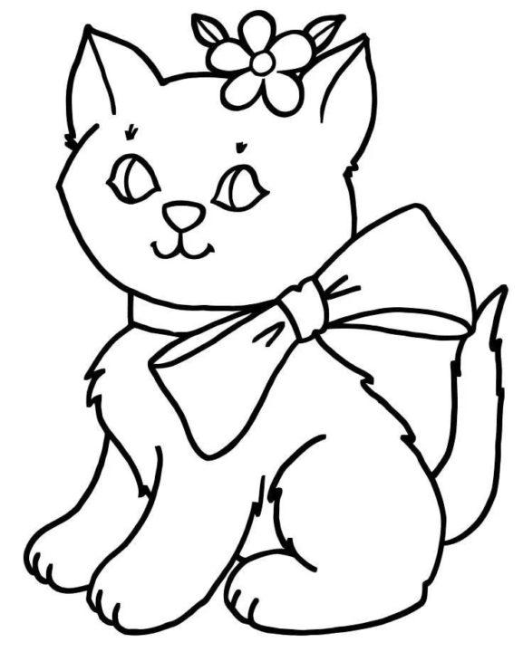 85 раскрасок с котиками для детей