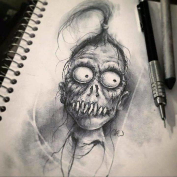 80 страшных рисунков карандашом и не только