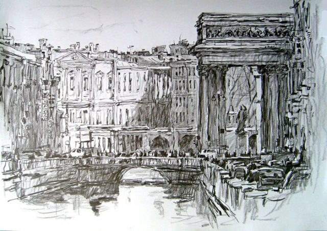 Как нарисовать город. 90 рисунков