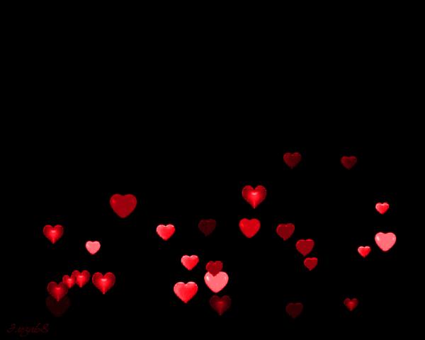 105 гиф анимаций с сердечками