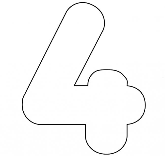 Шаблоны цифр для оформления
