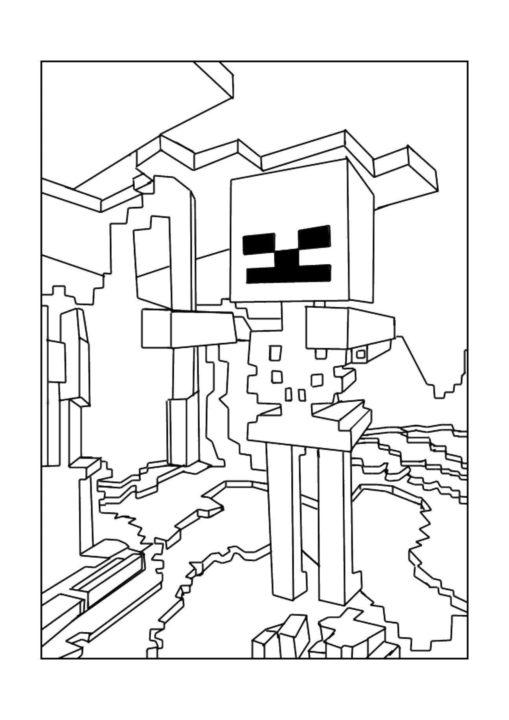 100 раскрасок Майнкрафт для распечатки