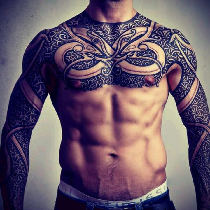 140 эскизов мужских тату «рукав»