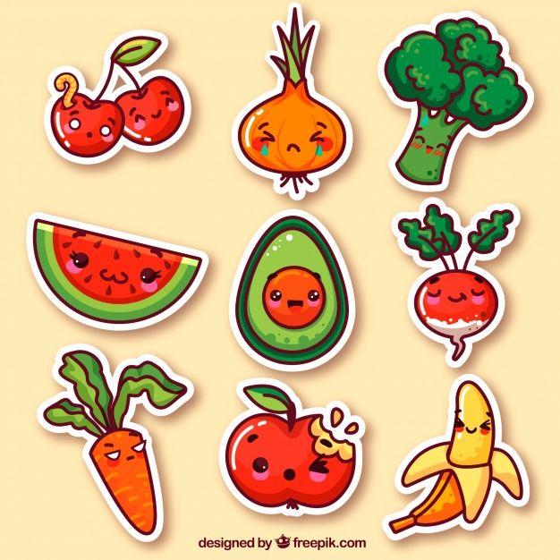 165 милых рисунков еды