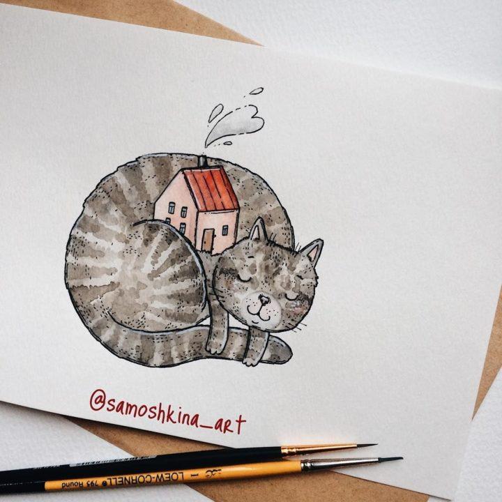 150 рисунков акварелью для начинающих и опытных