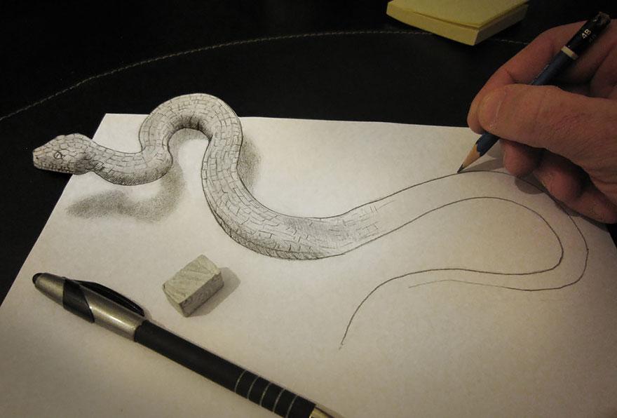 150 объемных 3D рисунков карандашом и не только