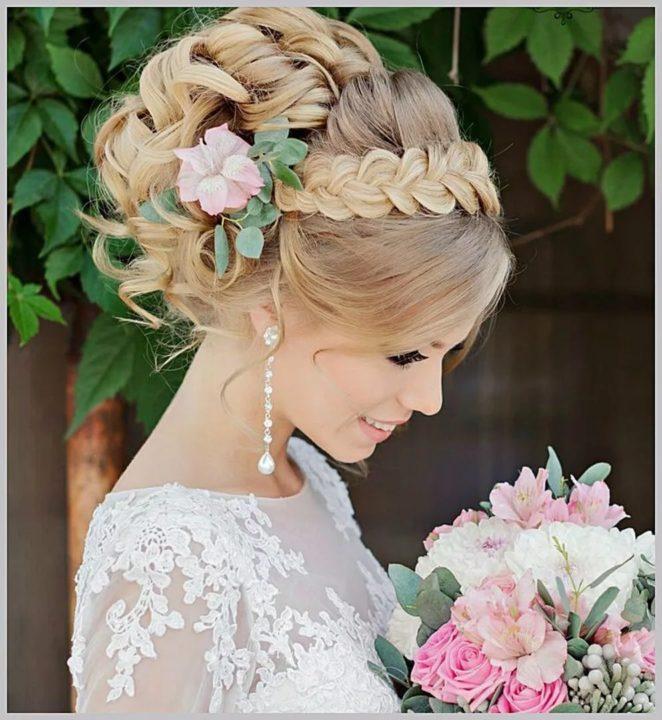 Красивые прически на свадьбу (165 фото)