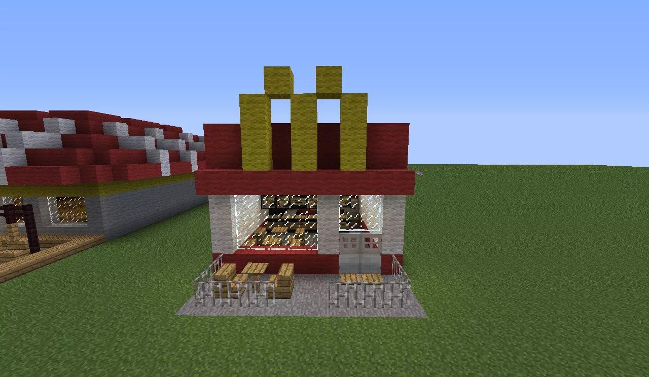 магазин в майнкрафт постройка #4