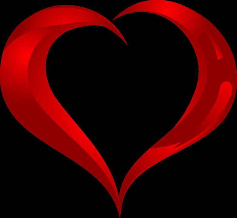 120 сердечек ПНГ на прозрачном фоне