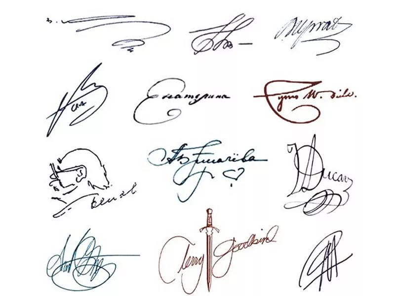 95 красивых подписей в паспорте и не только