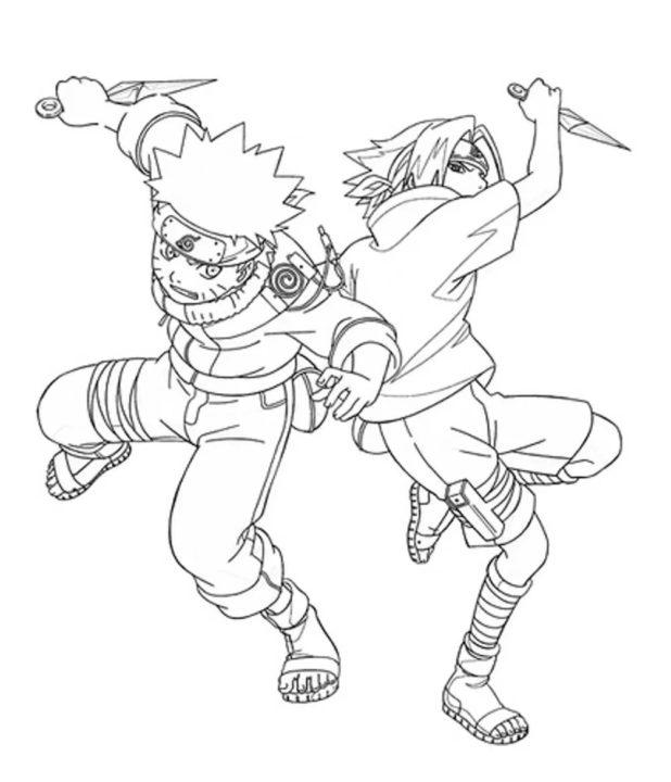 85 раскрасок по аниме Наруто