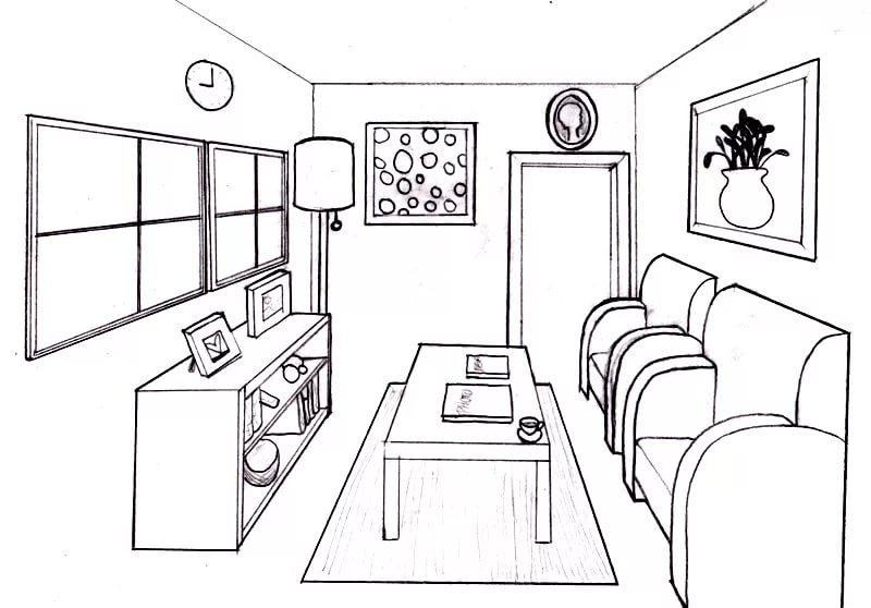 Интерьеры комнаты: 110 рисунков