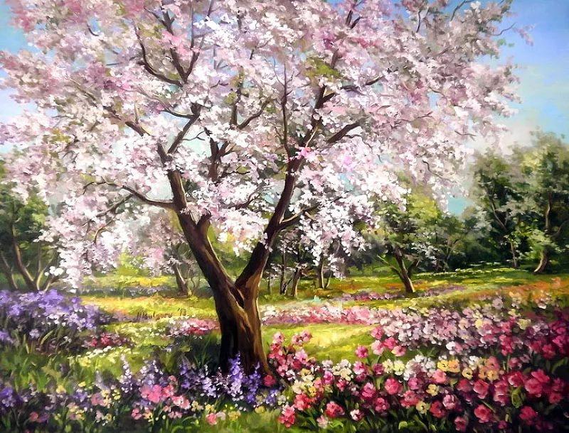 Весенний пейзаж: 100 картин известных и не очень художников