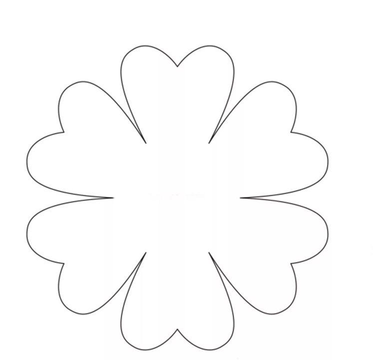 105 шаблонов цветов для распечатки и вырезания