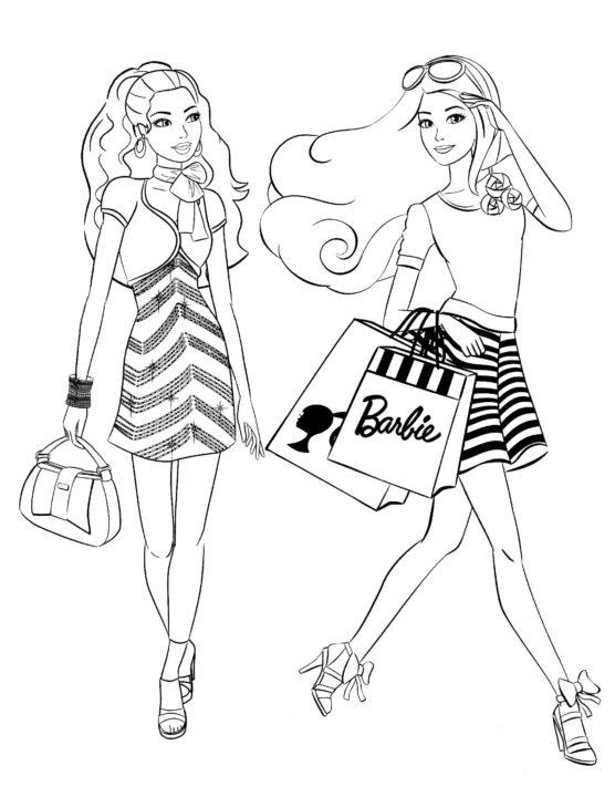 165 раскрасок с Барби