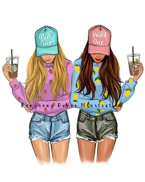 Обои на телефон для девочек-подростков (115 картинок)
