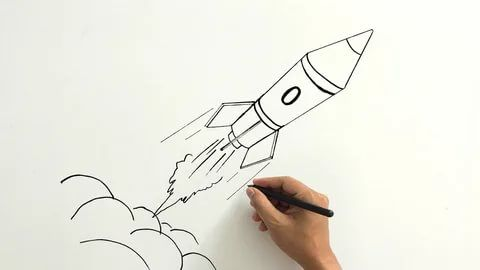 100 рисунков ракеты