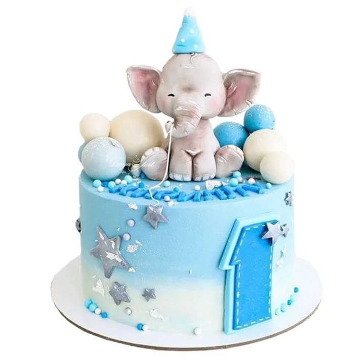 110 идей оформления торта на 1 годик для мальчика