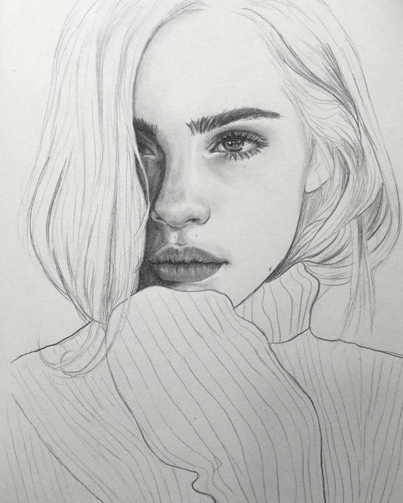 110 портретов карандашом для начинающих