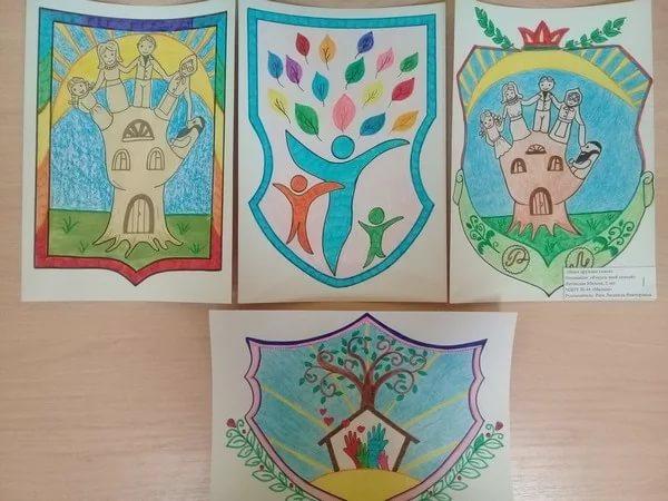 80 рисунков герба семьи