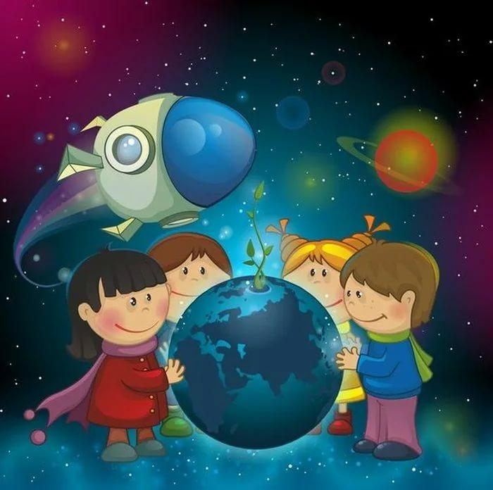 80 картинок про космос для детей