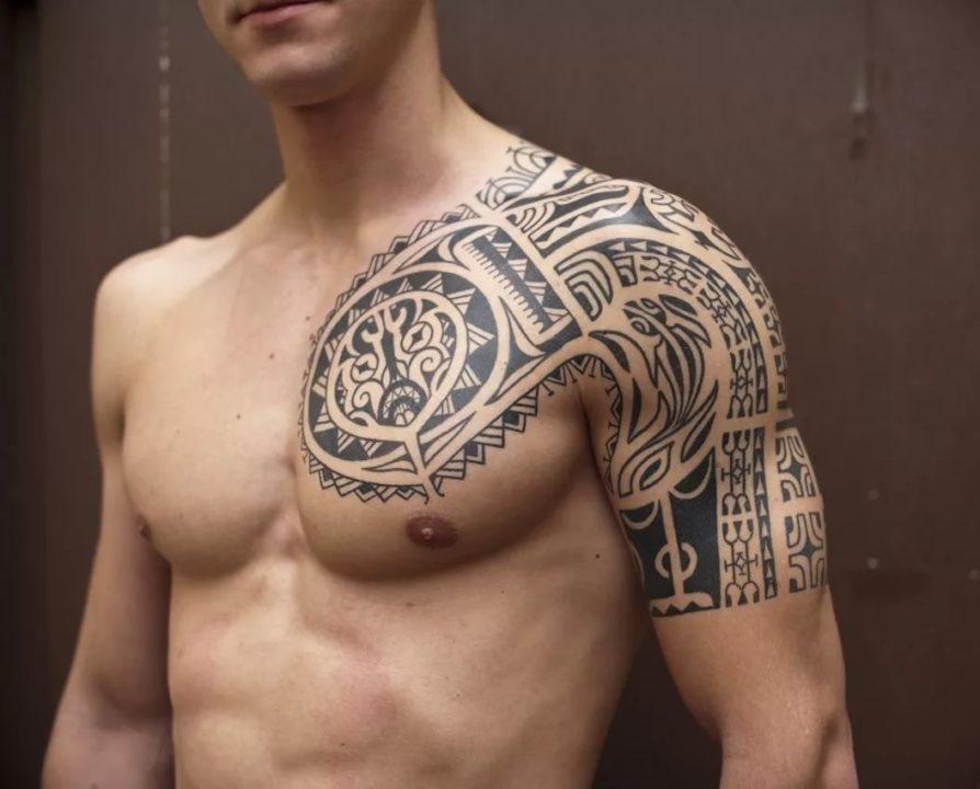 200 эскизов тату на плечо для мужчин