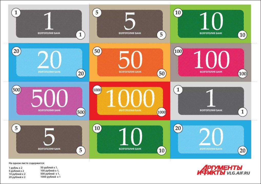 Деньги для игры в магазин: 60 картинок для распечатки
