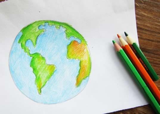 110 детских рисунков планеты Земля