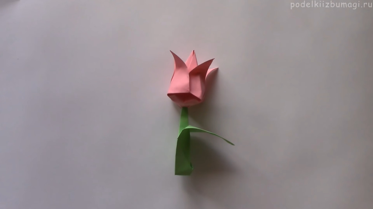 Как сделать оригами тюльпан
